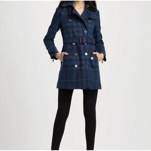 Burberry Brit plaid wool classic winter coat